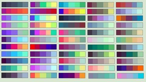 Color Palette 54 for Clip Studio Paint and Ex