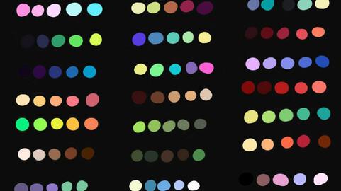 Color Palette 57 for Clip Studio Paint and Ex