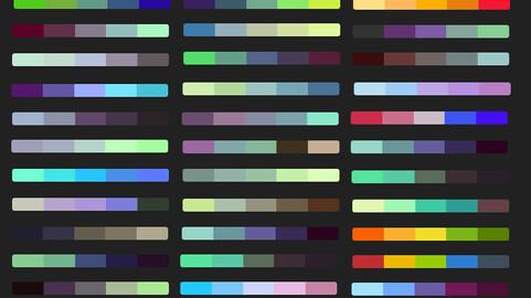Color Palette 61 for Clip Studio Paint and Ex