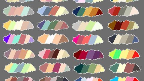 Color Palette 63 for Clip Studio Paint and Ex