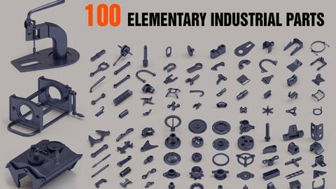100 elementary industrial parts