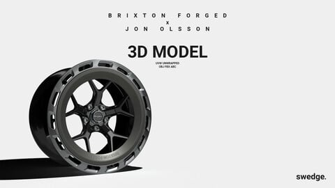 Brixton Forged x Jon Olsson Wheel Rim // 3D Model