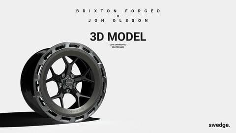 Brixton Forged x Jon Olsson Wheel Rim // 3D Model