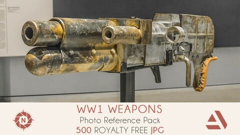 Photo Reference Pack: WW1 Heavy Guns