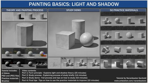 PAINTING BASICS: LIGHT AND SHADOW