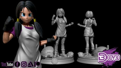 Videl 1-6 Scale - Dragon Ball