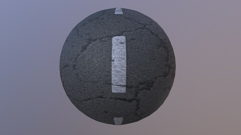 Cracked Road pbr texture