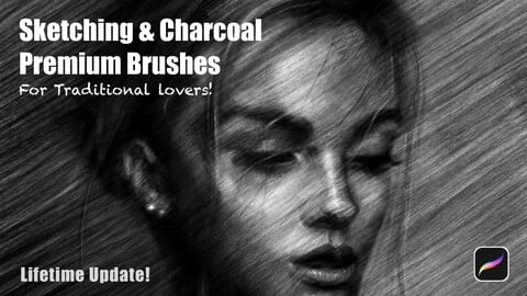 Sketching & Charcoal Brushes [ Artwork + Lifetime Update! ]