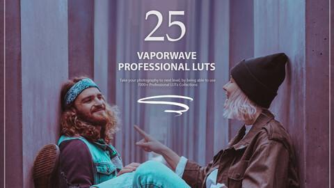 25 Vaporwave LUTs Pack