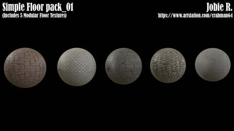 Simple/Stylized floor pack_01