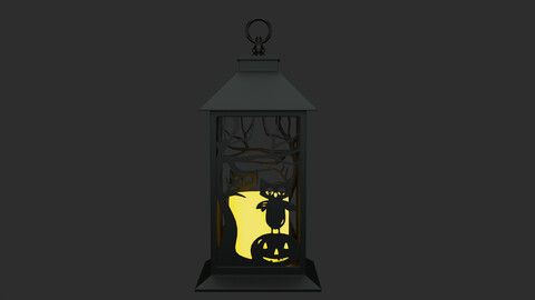 Halloween Lamp  3D Model