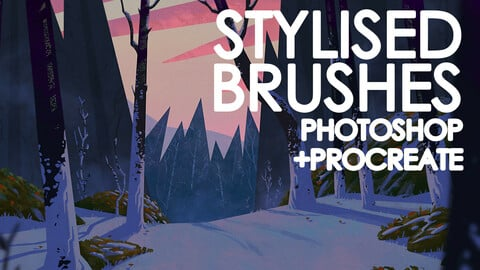 Stylised Brush Set - Photoshop + Procreate