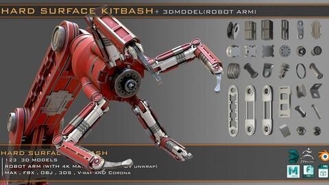 Hard Surface Kitbash+ROBOT ARM-OM