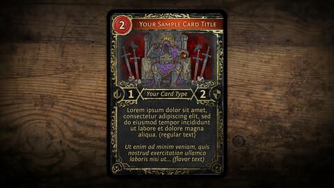 Dark Fantasy Card Template
