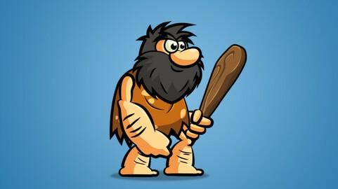 Caveman 2D Character Sprite