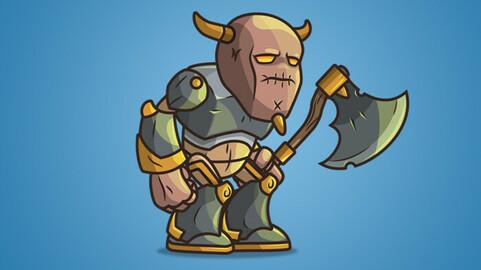 Castle Guard 2D Character Sprite