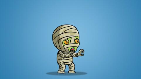 Tiny Mummy 01 2D Character Sprite
