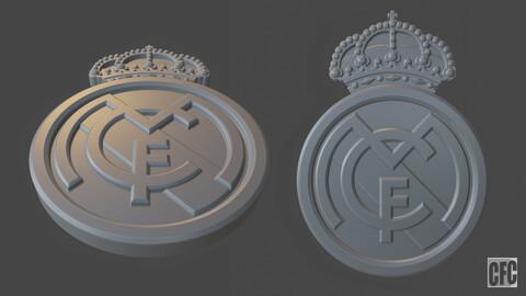 Real Madrid 3d print logo