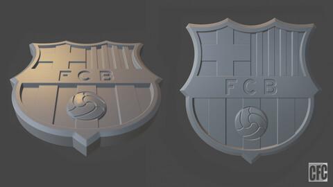 F.C. Barcelona 3d print logo