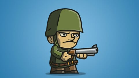 Tiny Army – Sam 2D Character Sprite