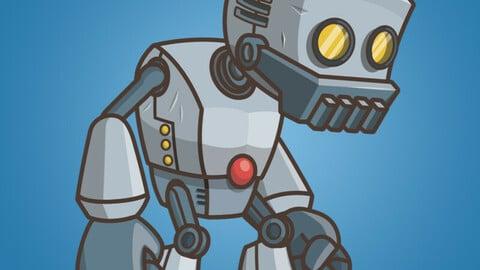 Big Hands Robot 2D Character Sprite