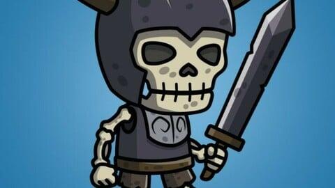 Skull Knight 2D Character Sprite