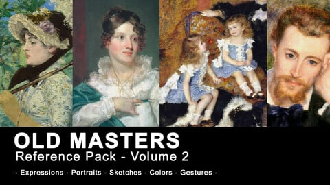 Old Masters Paintings and Sketches for Character Art (270+ high resolution classics) - Volume 2