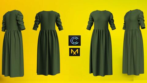 Dress - Marvelous designer & CLO3d projects+ OBJ