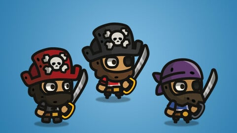 Tiny Style Character – Pirate 2D Character Sprite