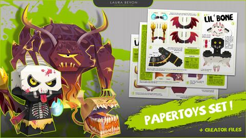 The Devil Crew - Papertoys Set