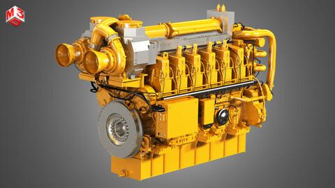 C280 Marine 12 Cylinder Engine