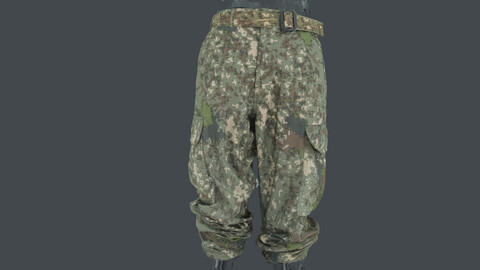 Photoscan_Army_0007_only HighPoly Mesh (16K Texture)