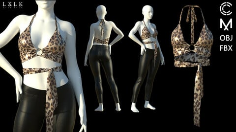 Leopard Bralet outfit