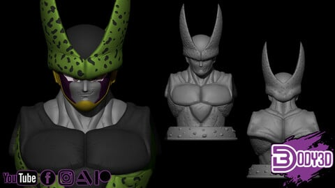 Cell Bust 1/1 Scale - Dragon Ball