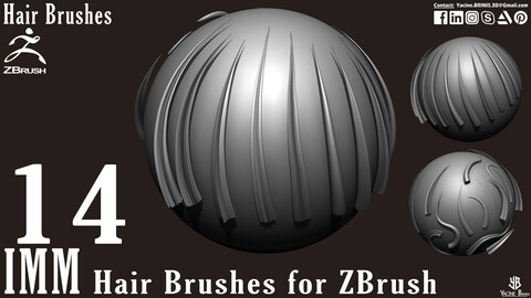 14 IMM Hair Brushes