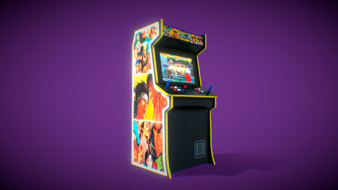 Stylized arcade cabinet