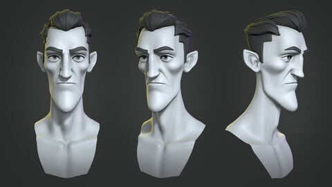 Vampire cartoon character base mesh