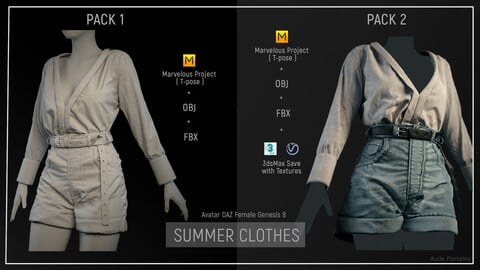MD Summer Clothes outfit : PACK 2