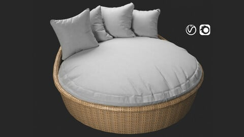 Sunset West Leucadia Wicker Daybed