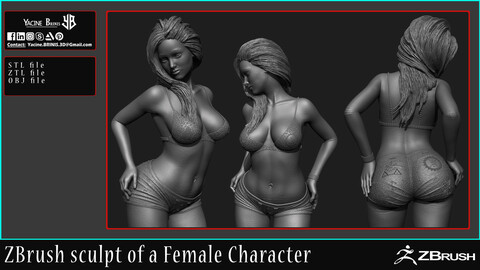 Female Anatomy with ZBrush