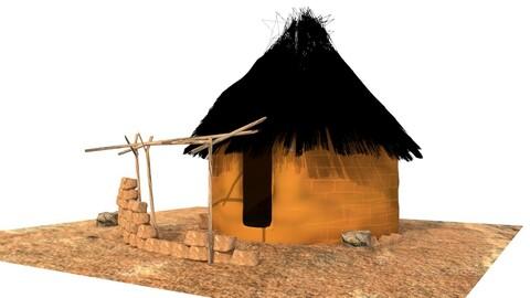 Maisons De Village Africain  3D