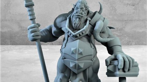 ORC lord !! STL files for 3D printing .