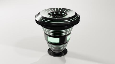 Sci-fi Round Computer