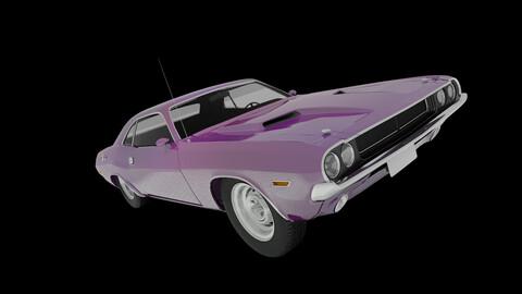 Modular Muscle Car (OBJ / Blend)
