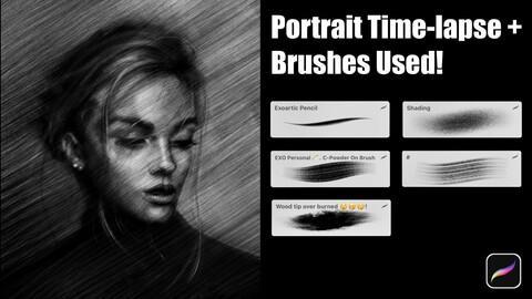 Portrait Time-lapse + Brushes Used