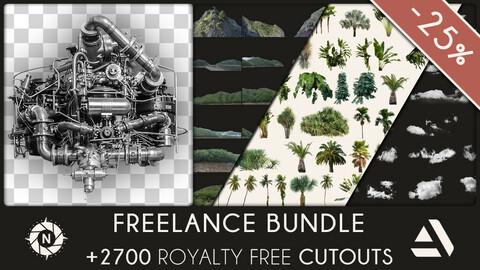 Freelance Bundle: +2700 PNG Cutouts (Save 136$)