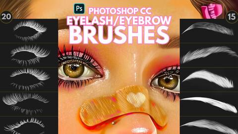 Eyelash/Eyebrow Brushes for Photoshop