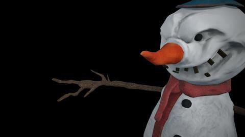 Creepy Snowman - Nightmare Monster