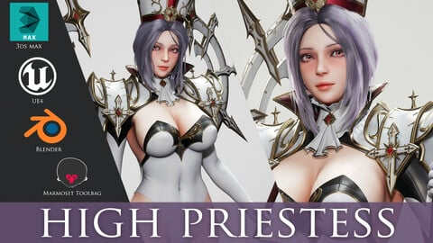 High Priestess - Game Ready