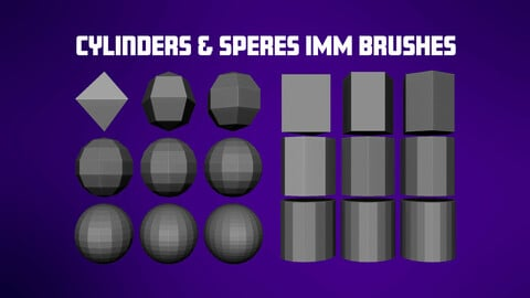 Cylinders and Spheres IMM Brush Set
